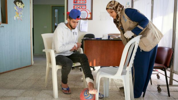 In Gaza, HI provides rehabilitation care and psycho-social support ; }}