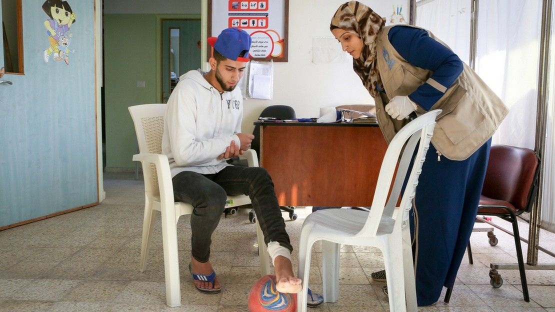 In Gaza, HI provides rehabilitation care and psycho-social support